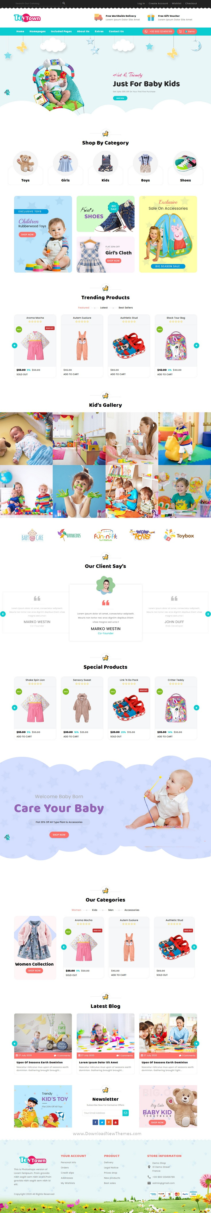 Kids Clothing & Toys Responsive HTML Template