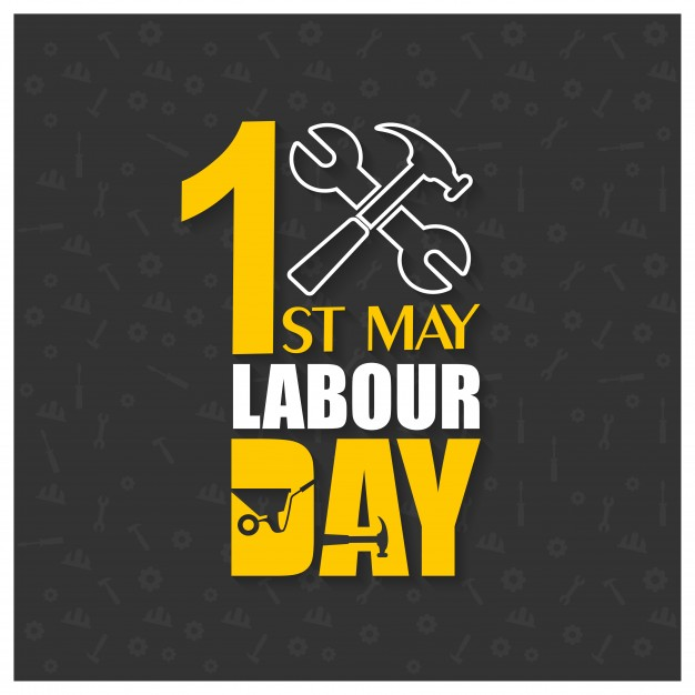 1st of may labour day background Free Vector