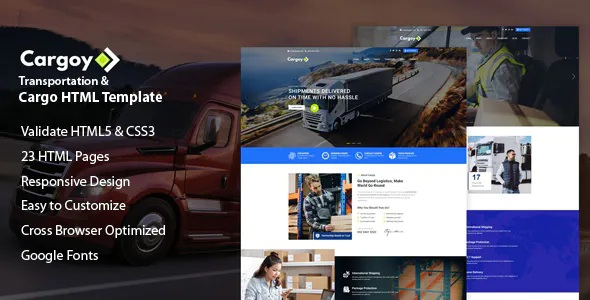 Transportation & Cargo HTML Template