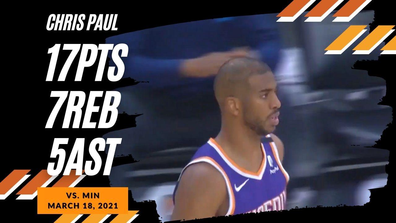 Chris Paul 17pts 7reb 5ast vs MIN | March 18, 2021 | 2020-21 NBA Season