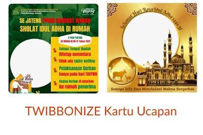 Ini Adalah Twibbon : Buat, Download dan Contoh Kartu Ucapan Lebaran Idul Adha 2021 di Twibbonize