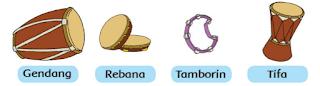 alat musik gendang, rebana, tamborin, atau tifa www.simplenews.me