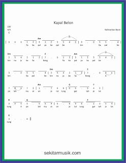 not angka kapal belon lagu daerah kalimantan barat