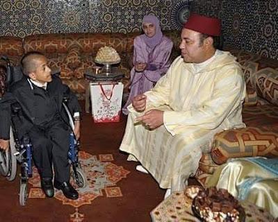 صاحب الابتسامة المشرقة  و الفلب الكبير صاحب الجلالة الملك محمد السادس نصره الله