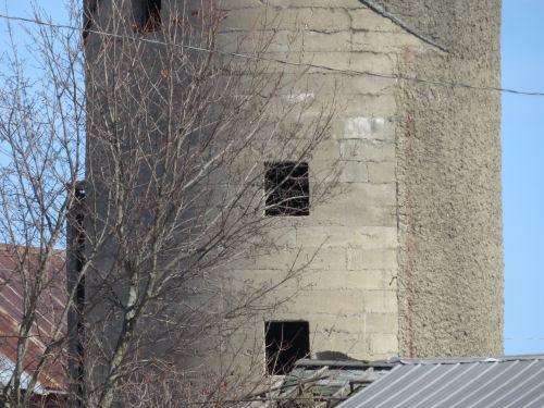 concrete block silo