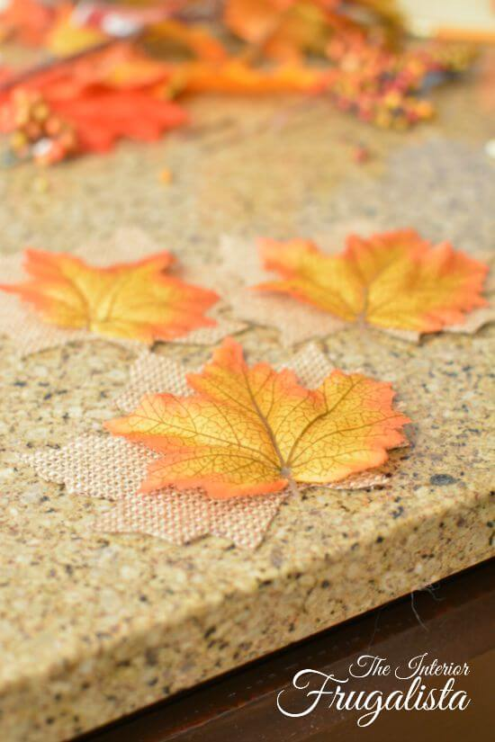 DIY Jumbo Scrabble Tile Fall Banner Leaf Assembly