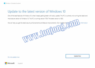 update windows 10 dengan aplikasi