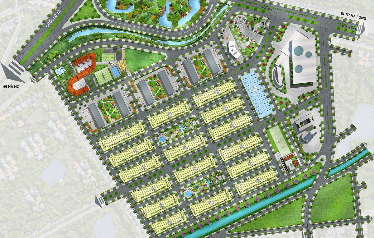 Chi tiết mặt bằng phân lô dự án Him Lam Green Park Đại Phúc
