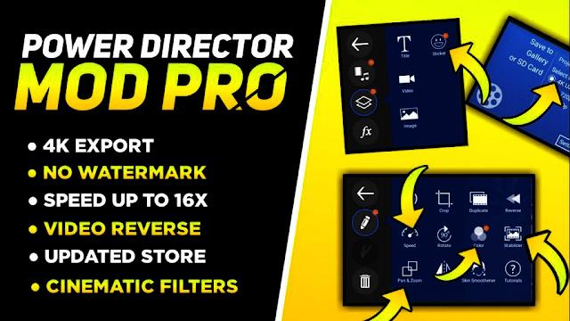 PowerDirector Video Editor Apk + All Unlocked