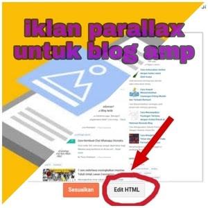 cara membuat iklan parallax untuk blog amp