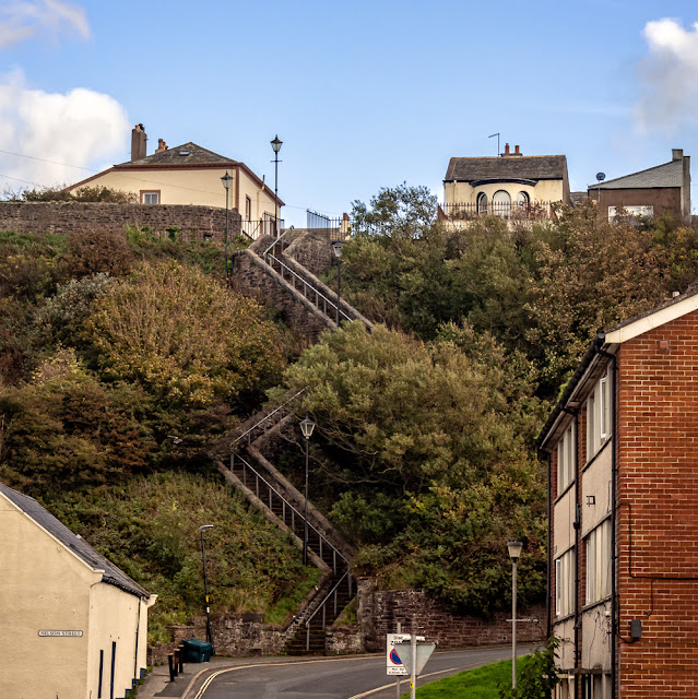 Photo of the Zig-Zag Steps at Maryport
