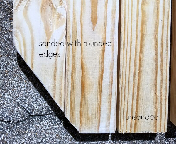 sand and round edges smooth