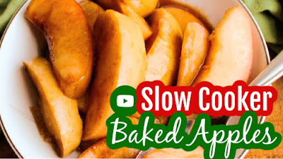 thumbnail for youtube video making slow cooker cinnamon apples