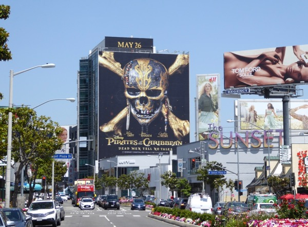 Giant Pirates of the Caribbean 5 movie billboard sunset Strip