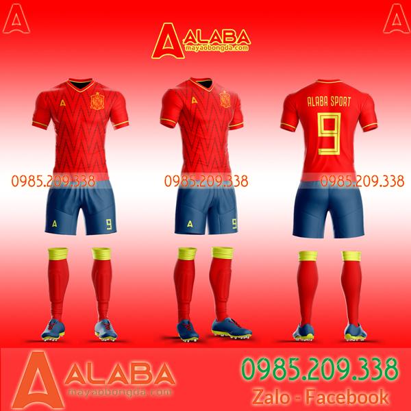 May áo bóng đá Tây Ban Nha theo yêu cầu
