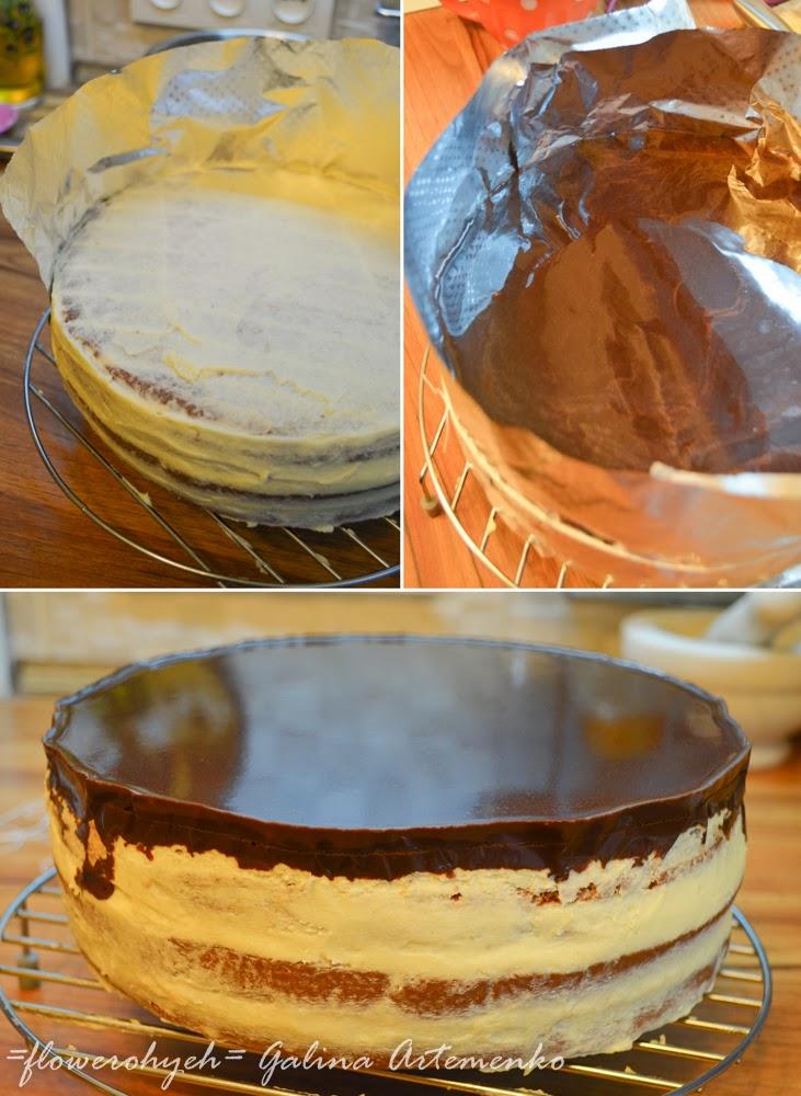 торт, покрытый гляссажем