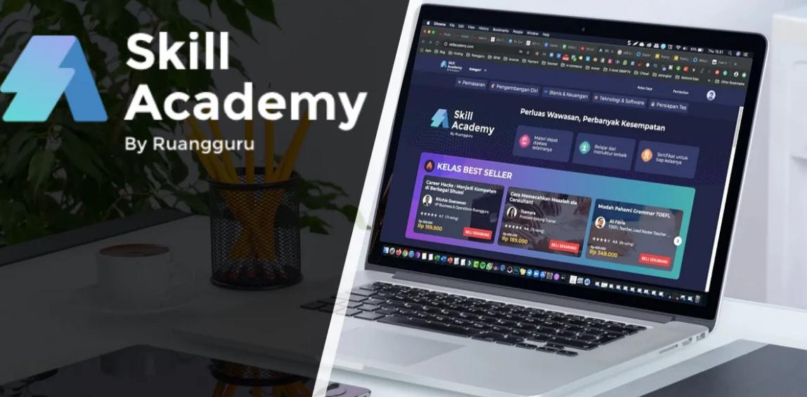 cara download video di skill academy