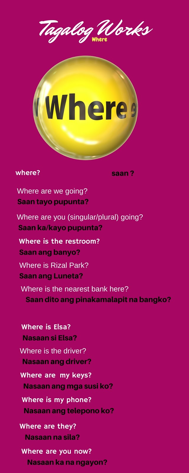 Asking questions in Tagalog