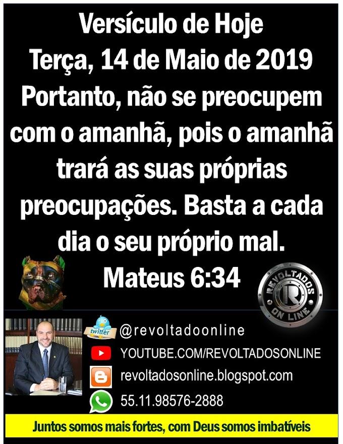 🔴 A cada dia lhe agradeço Senhor - Versículo do Dia Terça Feira, 14 de maio de 2019