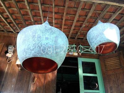 Lampu Gantung Minimalis Tembaga - kerajinan tembaga dan kuningan