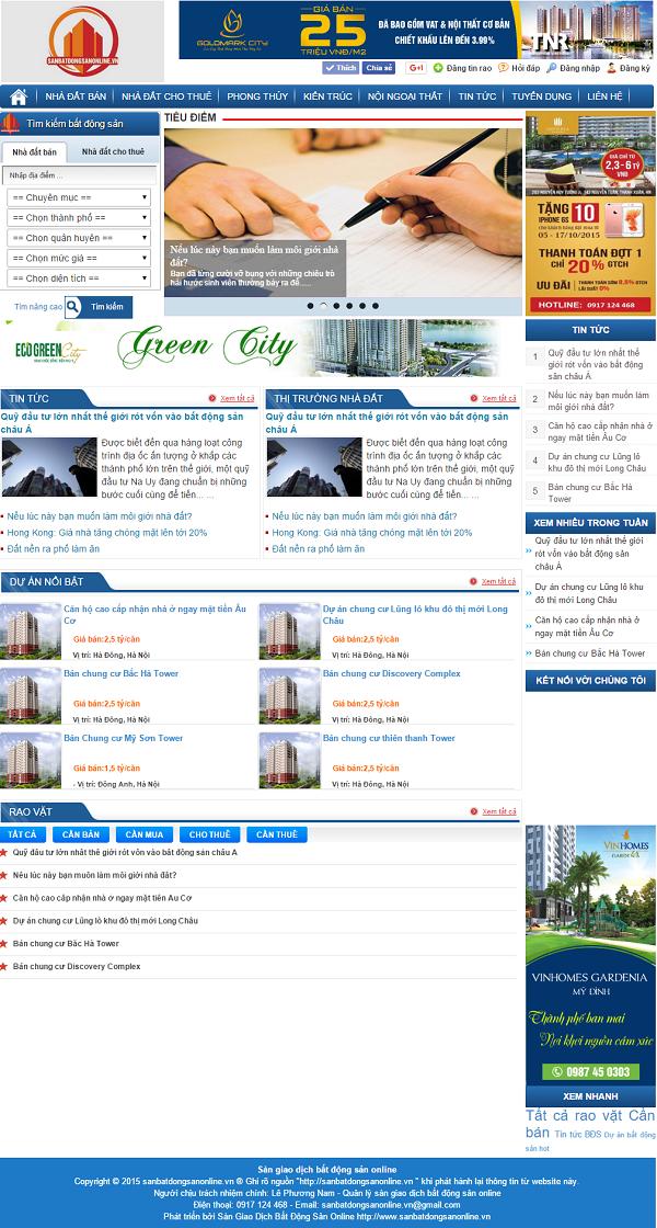 Mẫu template blogspot bất động sản 00006 đẹp và chuyên nghiệp
