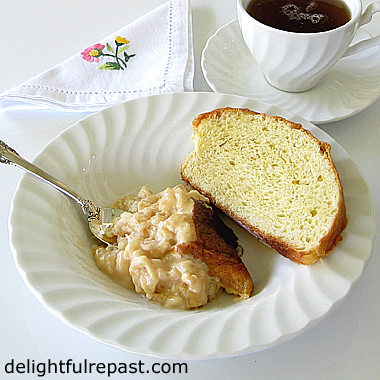 Teurgoule - The Traditional Rice Pudding of Normandy (this photo - teurgoule and fallue) / www.delightfulrepast.com