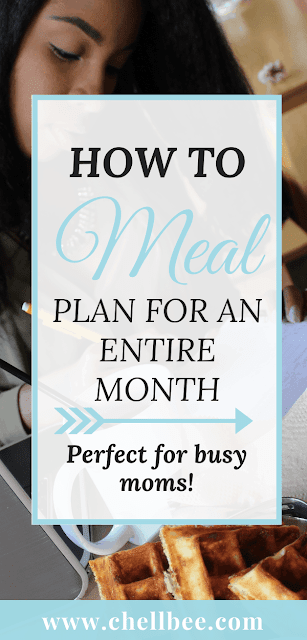 Meal Planning | Learn how to meal plan for a month in 1 hour. Save on your monthly grocery bill and time in the kitchen with these great tips. These tips work if you're single, married, or a busy mom! #mealplan #printable #money