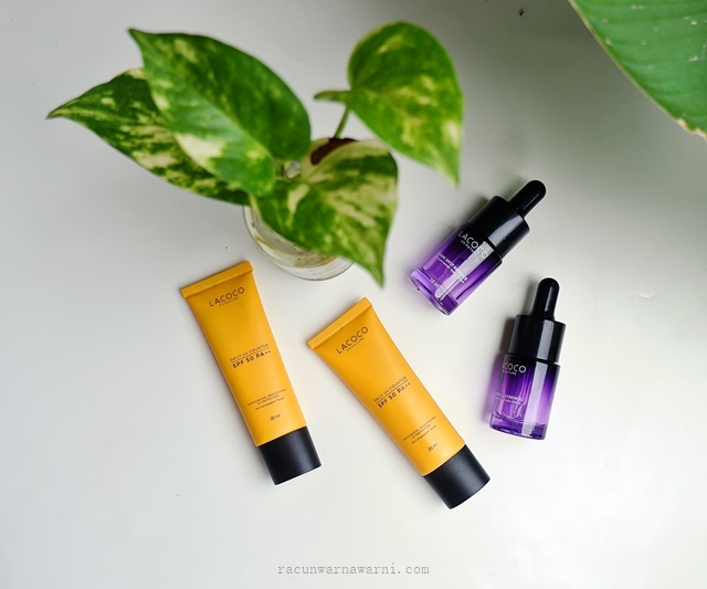 Review Cara Penggunaan Lacoco Dark Spot Essence dan Lacoco Daily UV Counter SPF 50 PA++