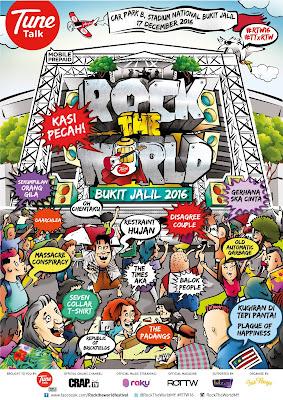 Contest Kasi Pecah: ROCK THE WORLD CONCERT 2016 By Blogger Comel Dan Santai
