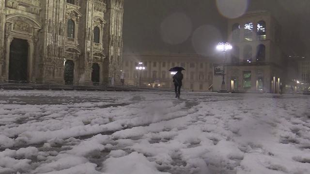 Il Nord Italia si è svegliato sotto la neve
