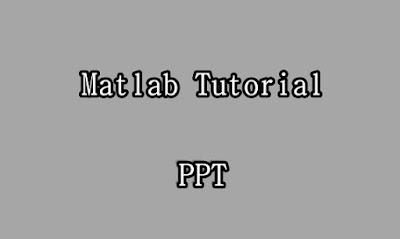 Matlab Tutorial PPT