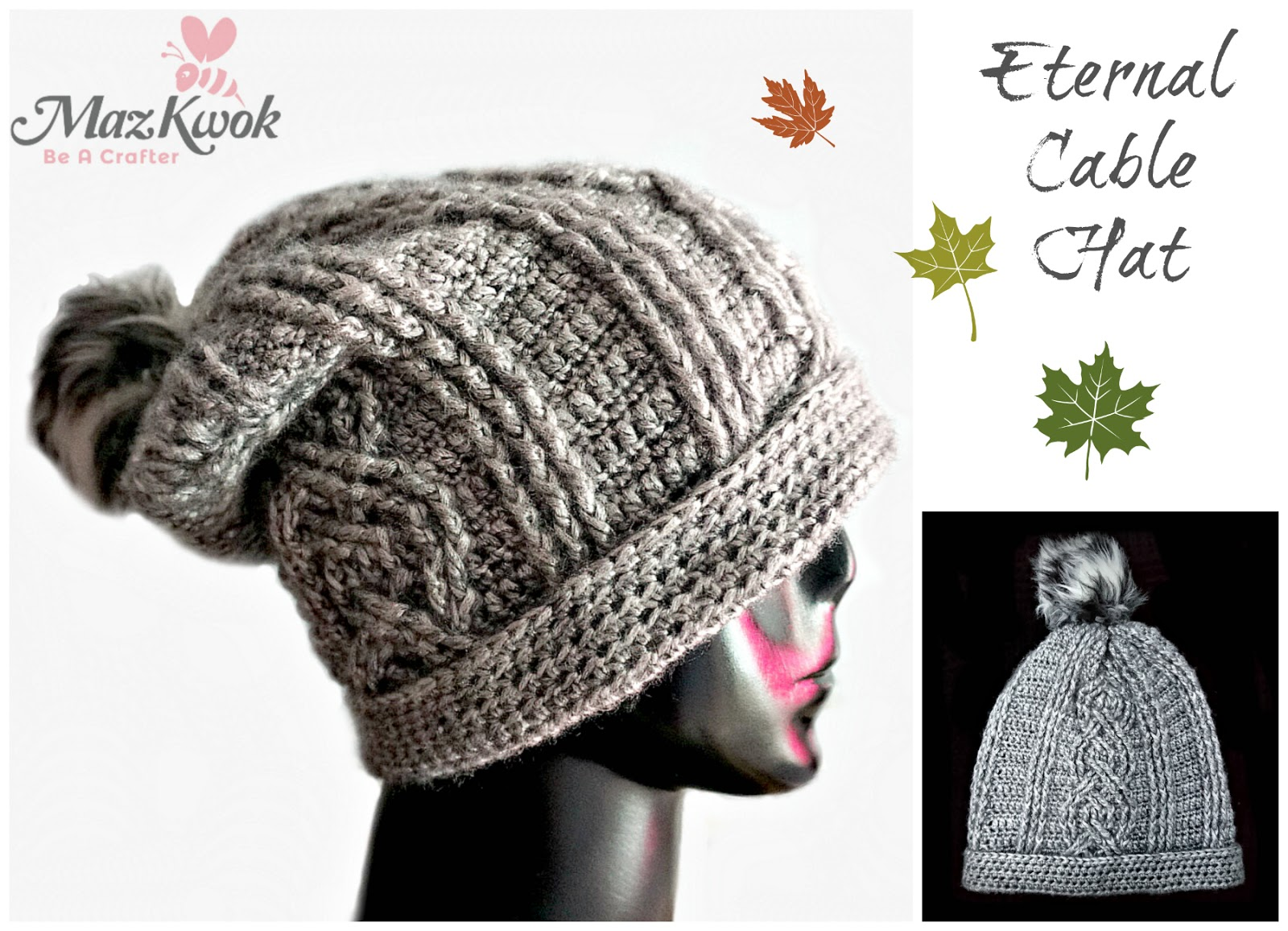 Eternal Cable Hat - free crochet pattern 53a94ca897