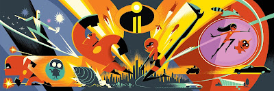 The D23 Expo Exclusive The Incredibles 2 Concept Art Teaser Movie Poster by Eric Tan x DisneyPixar