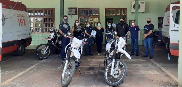 Samu de Foz do Iguaçu recebe duas novas motolâncias para agilizar atendimentos