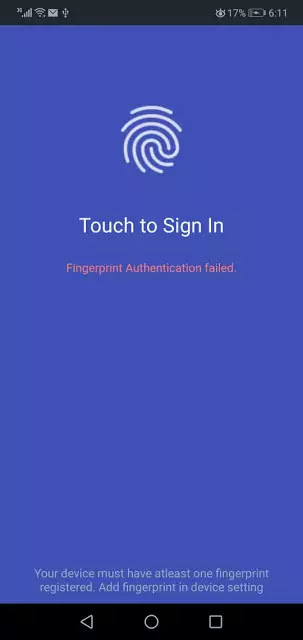 fingerprint verification or authentication in android studio