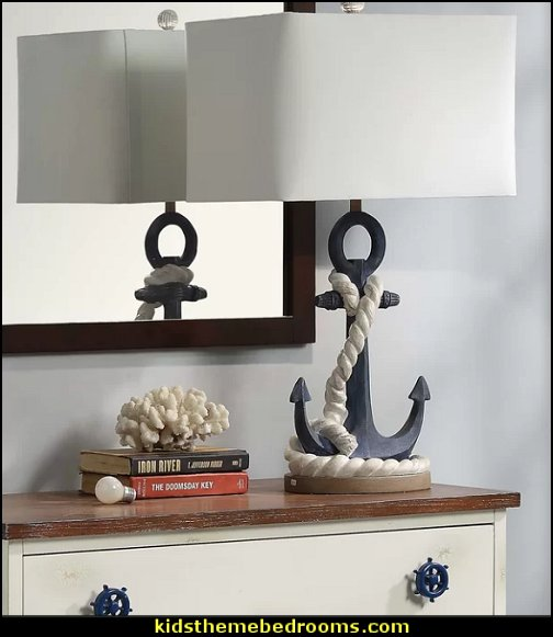 Anchor table Lamp nautical lighting nautical bedroom decor nautical bedroom furniture