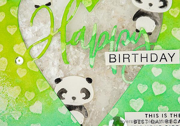 Layers of ink - Panda Shaker Card Tutorial by Anna-Karin Evaldsson.