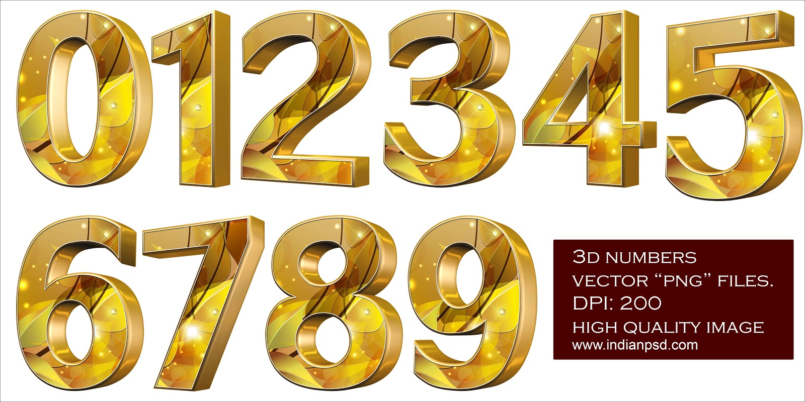 3D NUMBERS PSD FILES FREE DOWNLOAD_ VOL_02 - INDIANPSD.COM