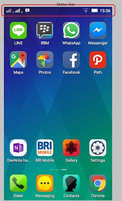 apa itu status bar perangkat android