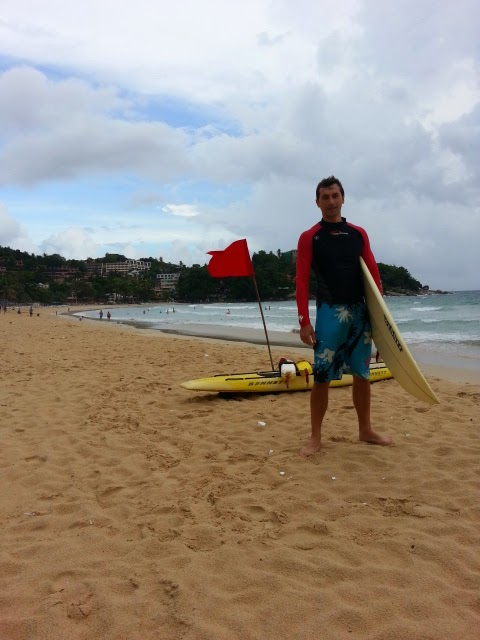 Surfing at Kata Beach Phuket
