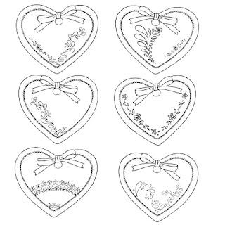 עיצובים של לבבות לצביעה