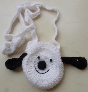 crochet dog bag