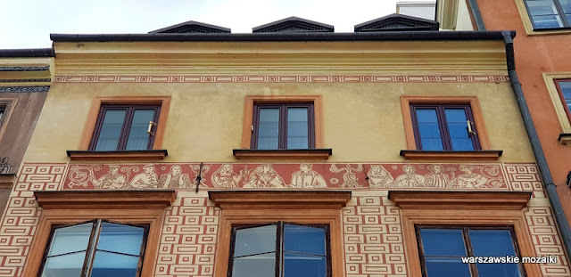 sgraffito Warszawa Warsaw kamienica kamieniczka staromiejska Klucznikowska Hanna i Jacek Żuławscy Hugo Kołłątaj architektura architecture