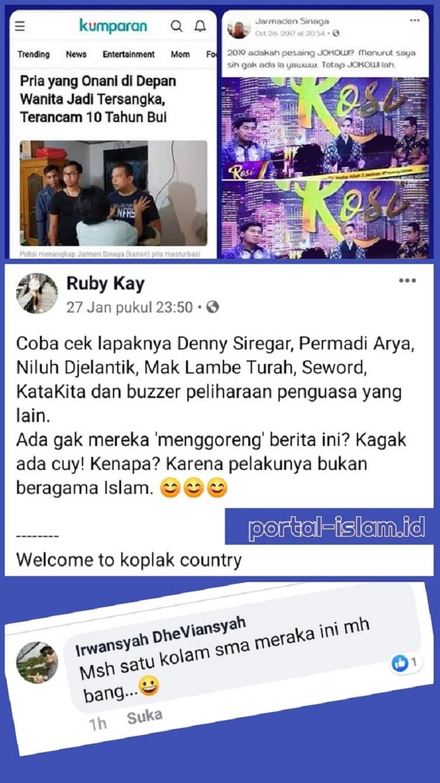Kasus 'Jarmaden Sinaga' Denny Siregar Abu Janda CS Mingkem, Netizen: Karena Pelakunya Bukan Islam