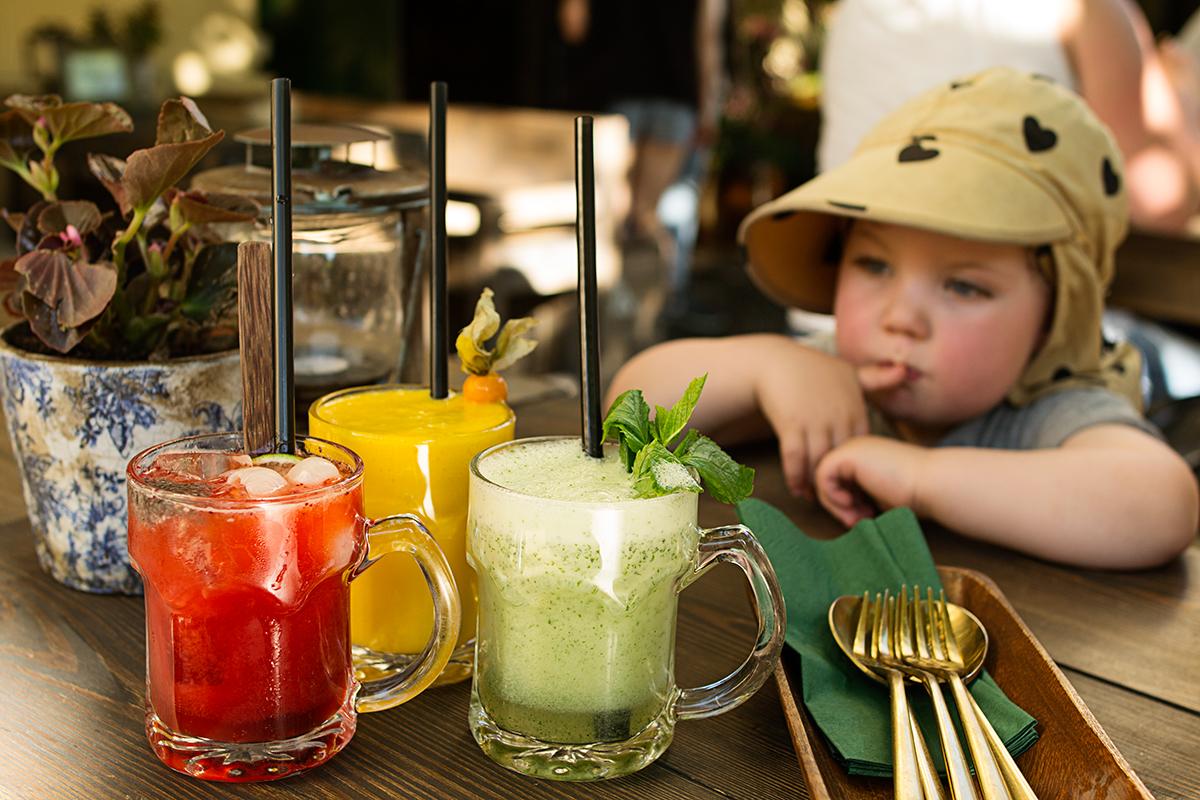 Alkoholfria drinkar från restaurant Umami i Prenzlauer Berg i Berlin.