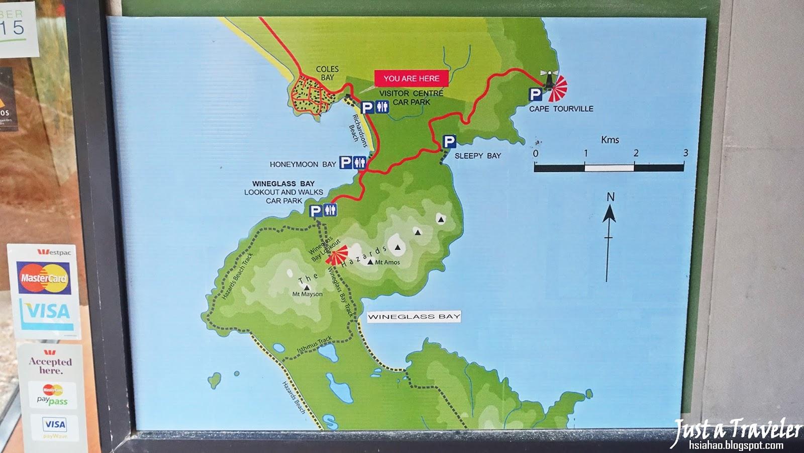 塔斯馬尼亞-景點-推薦-菲欣納國家公園-地圖-旅遊-自由行-澳洲-Tasmania-Freycinet-National-Park-Tourist-Attraction-Australia