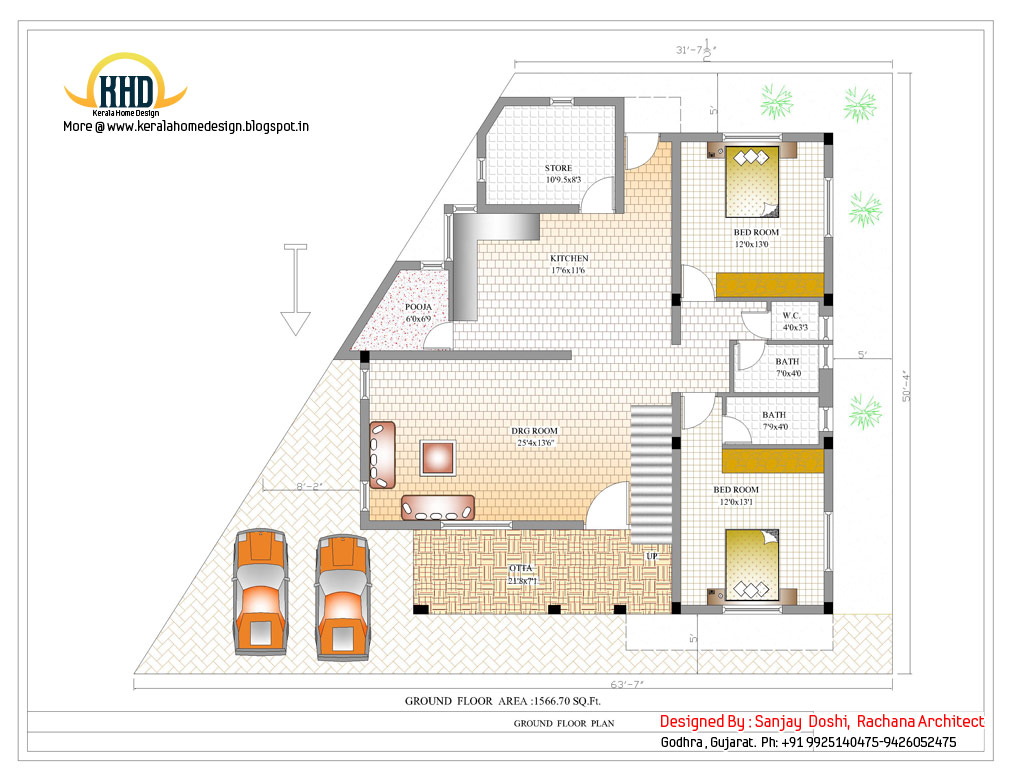 3 story house plan and elevation 3521 sq ft kerala 3 story building floor plans