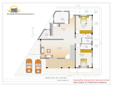 3 Story House - Ground Floor Plan- 327 Sq M (3521 Sq. Ft.) - February 2012
