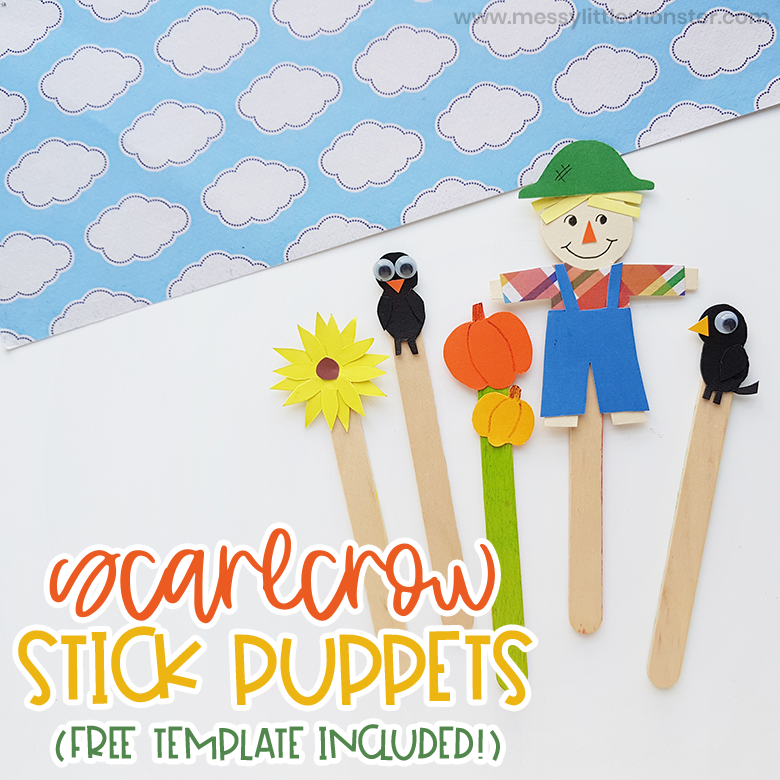 Scarecrow Craft - Popsicle Stick Puppets