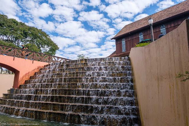 Cachoeira no Corrego da Serraria no Bosque Alemão (Memorial da Imigração Alemã)